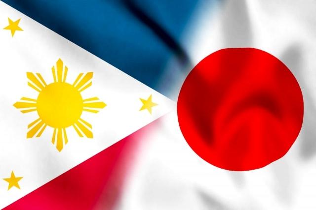 フィリピンと日本の国旗